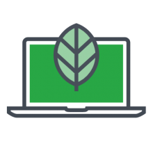 computer leaf icon